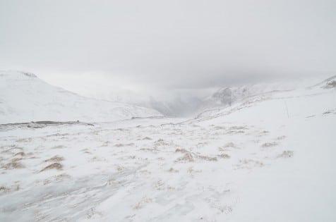 Lite snø i terrenget