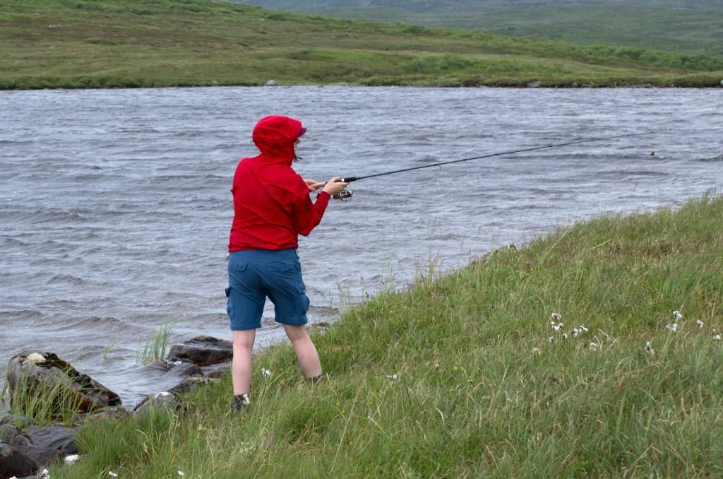 Fisketur i vindvær