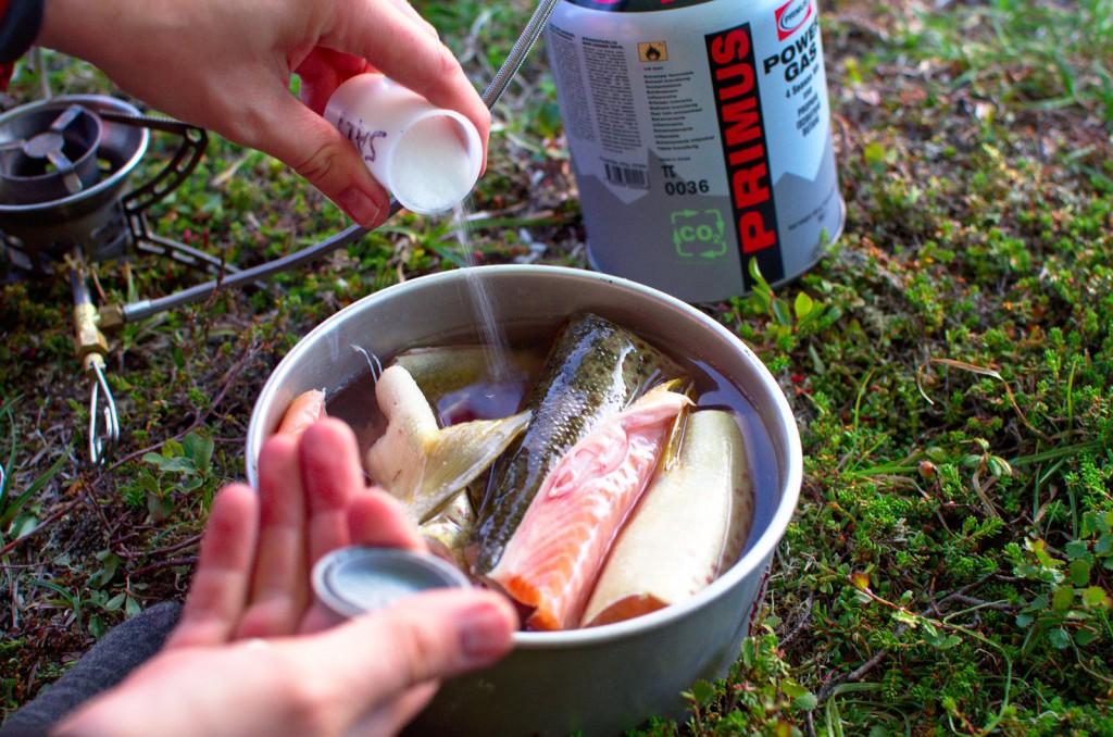 Koker fisk til fiskesuppen