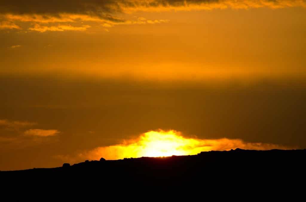 Solnedgang på trøndersk