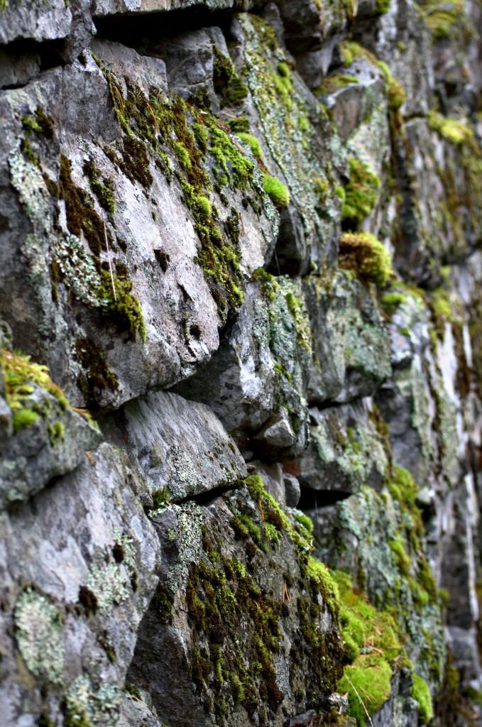 Dammen ble satt opp på den tiden man kunne mure med naturstein